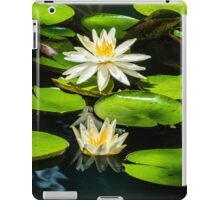 White Lily Pad iPad Case/Skin