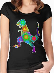 T. Rex Fireworks Women's Fitted Scoop T-Shirt