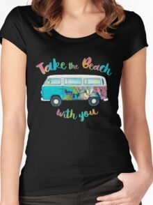 Take The Beach With You Women's Fitted Scoop T-Shirt
