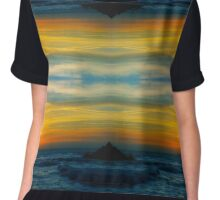 Sunset over Pacific Ocean Chiffon Top