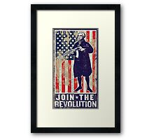 Join The Revolution Washington Framed Print