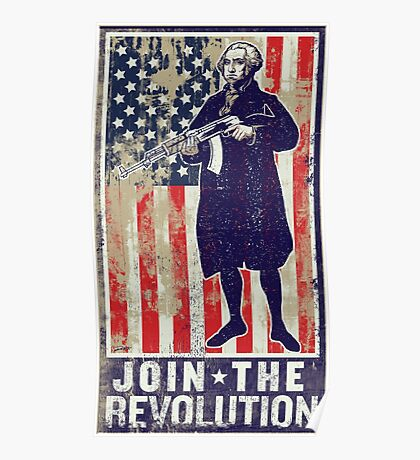 Join The Revolution Washington Poster