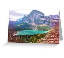 Grinnel Lake, Montana_ American Cutouts Greeting Card