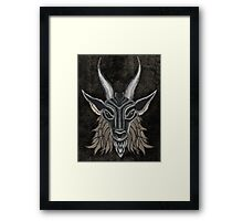 Charcoal Black Baphomet Framed Print