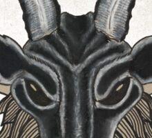 Charcoal Black Baphomet Sticker