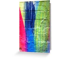 Pink Blue Yellow Greeting Card