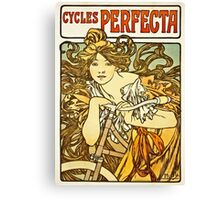 Alphonse Mucha - Cycles Perfecta Canvas Print
