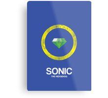 Minimal Sonic Metal Print