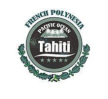 TAHITI Round Emblem Photographic Print
