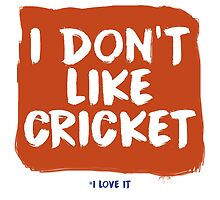 I don't like Cricket....I love it by dbutler1990