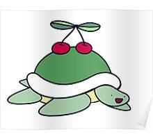 Cherry Turtle Poster