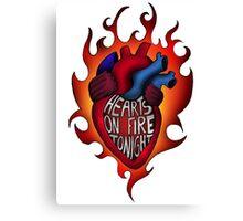 Hearts on fire tonight Canvas Print