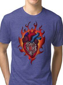 Hearts on fire tonight Tri-blend T-Shirt
