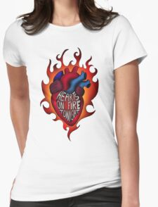 Hearts on fire tonight Womens Fitted T-Shirt