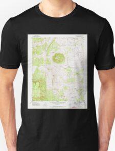 USGS TOPO Map Arizona AZ Poverty Knoll 312977 1971 24000 Unisex T-Shirt