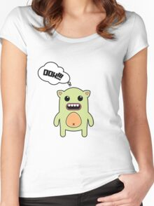 Cartoon monsters in a flat style. OOH!!! Women's Fitted Scoop T-Shirt