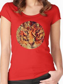 Tiger Burning Bright Women's Fitted Scoop T-Shirt