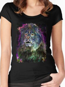 The Glowing Lion Women's Fitted Scoop T-Shirt