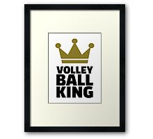 Volleyball king crown Framed Print