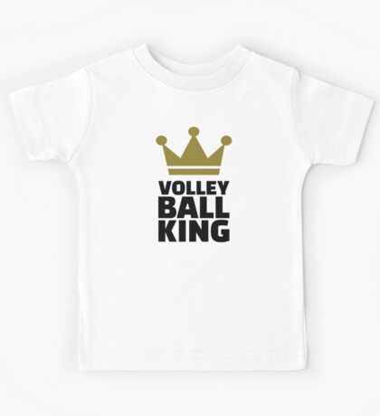 Volleyball king crown Kids Tee