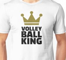 Volleyball king crown Unisex T-Shirt