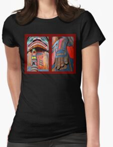 TOTEM DIPTYCH Womens Fitted T-Shirt