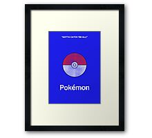 Minimal Pokemon Framed Print