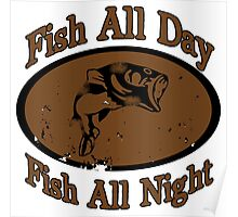 Fish All Day Poster