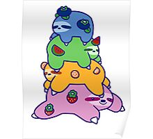 Fruit Sloth Stack Poster
