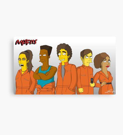 Misfits - Simpsons Style! Canvas Print