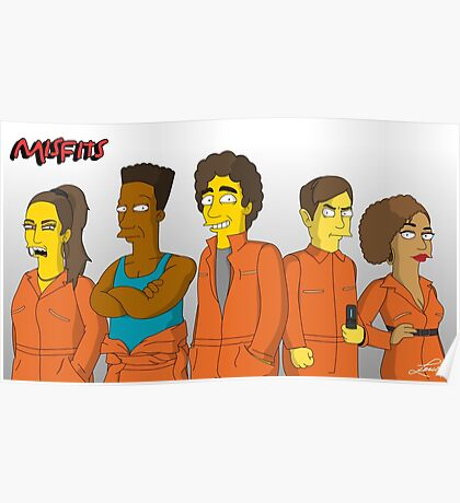 Misfits - Simpsons Style! Poster