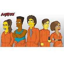 Misfits - Simpsons Style! Photographic Print