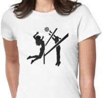 Volleyball girls women Womens Fitted T-Shirt