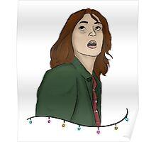 Joyce Byers Christmas Lights Poster