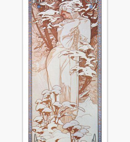 Alphonse Mucha - Hiverwinter Sticker