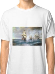 Aivasovsky Ivan - Brig Mercury Attacked By Two Turkish Ships 1892 Classic T-Shirt