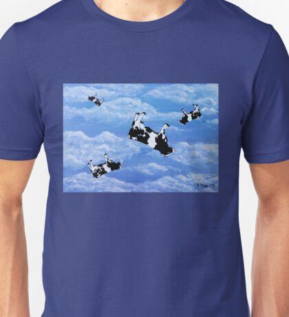 Falling Cows Unisex T-Shirt