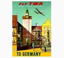 """""""TWA AIRLINES"""" Fly to Germany Advertising Print Unisex T-Shirt"""