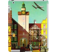 """""""TWA AIRLINES"""" Fly to Germany Advertising Print iPad Case/Skin"""