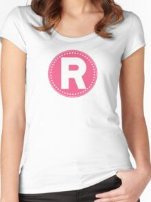 Chevron Letter R Women's Fitted Scoop T-Shirt