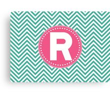 Chevron Letter R Canvas Print