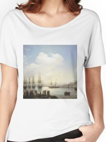 Aivasovsky Ivan - The Russian Squadron On The Sebastopol Roads Women's Relaxed Fit T-Shirt