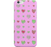 For the love of Watermelon - pink background iPhone Case/Skin