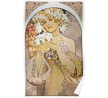 Alphonse Mucha - La Fleurflowers Poster