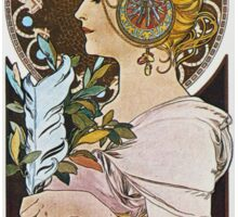 Alphonse Mucha - La Plumethe Pen Sticker