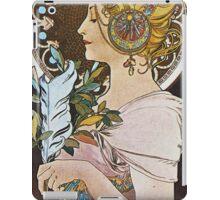 Alphonse Mucha - La Plumethe Pen iPad Case/Skin