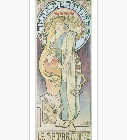 Alphonse Mucha - La Samaritaine  Sticker
