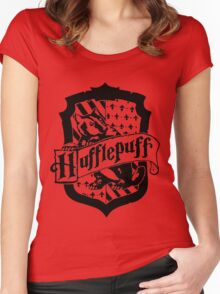 Hufflepuff house crest <3 Women's Fitted Scoop T-Shirt
