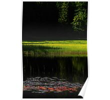 The Monastery Lake at Sunset Poster