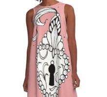 delicate flash tattoo black and white A-Line Dress